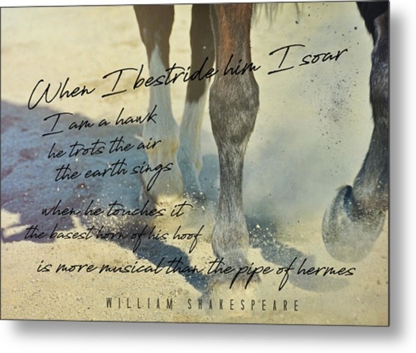 Working Tempo Quote Metal Print by JAMART Photography