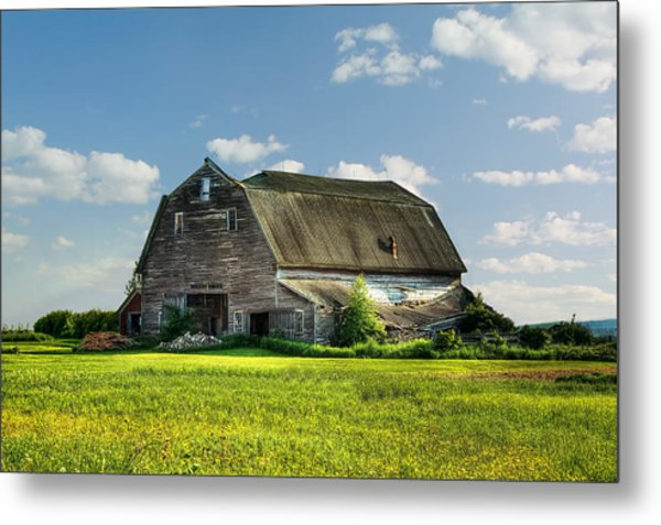 Working This Old Barn Metal Print
