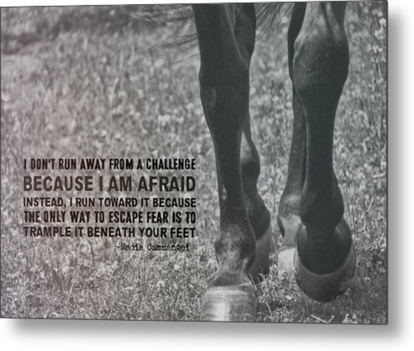 Working Trot Quote Metal Print by JAMART Photography