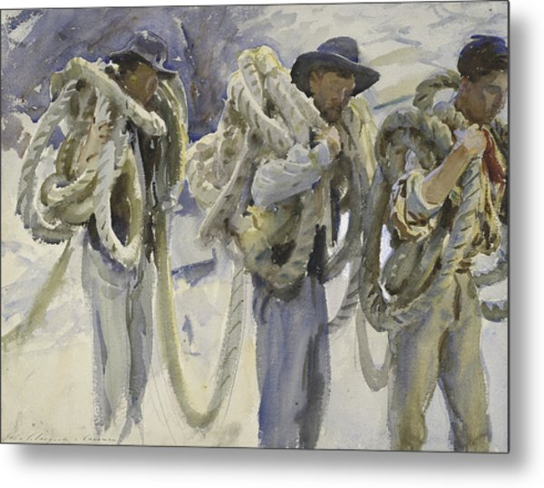 Workmen At Carrara Metal Print