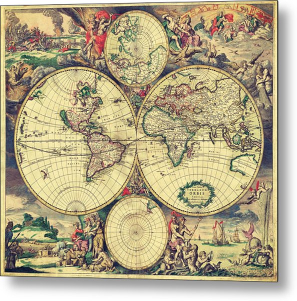 World Map 1689 Metal Print