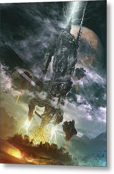 Metal Print featuring the digital art World Thief by Uwe Jarling
