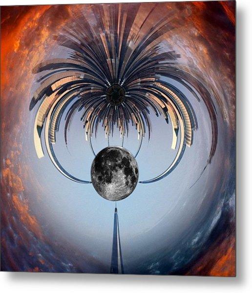 World Trade Center Tiny Planet Metal Print