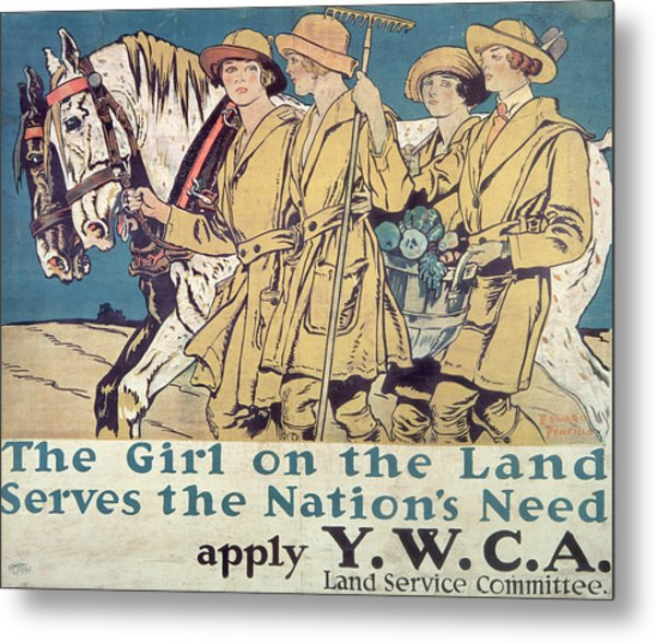 World War I Ywca Poster  Metal Print