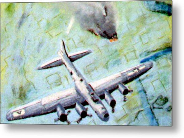 World War II Bombing Raid Metal Print by Stan Hamilton