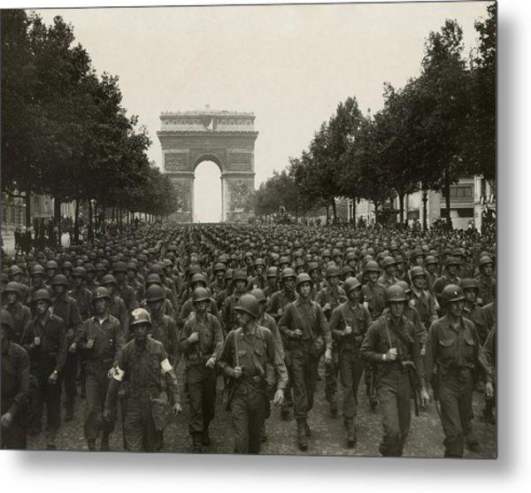 World War II. The Liberation Of Paris Metal Print by Everett