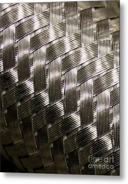 Woven Pipe Metal Print