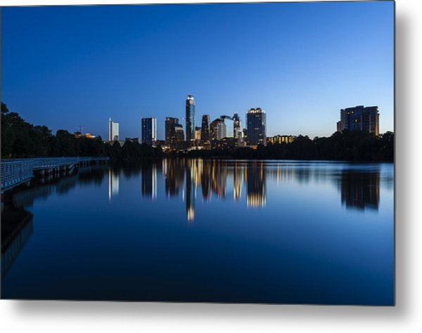 Wrapped In Blue Metal Print