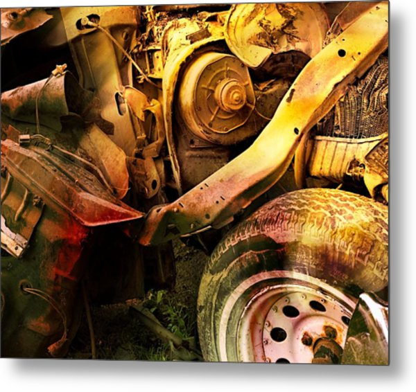 Wreck Close Up Metal Print