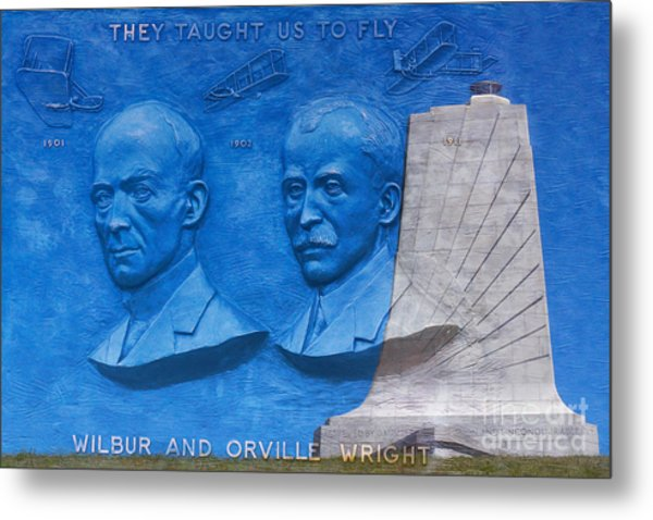 Wright Brothers Memorial Metal Print by Randy Steele