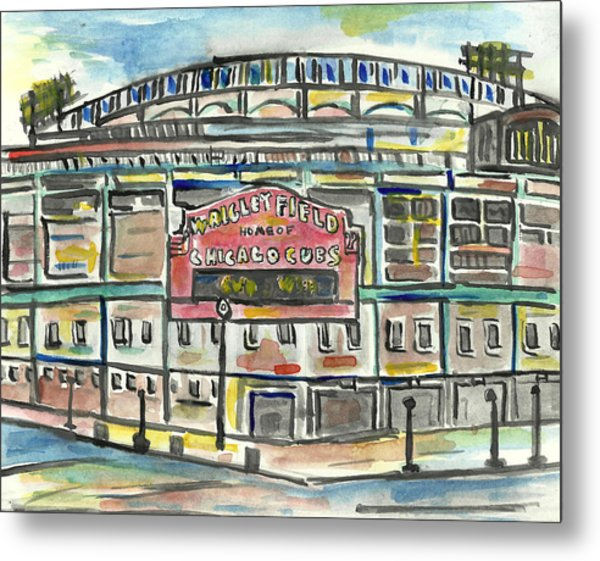 Wrigley Field Metal Print by Matt Gaudian