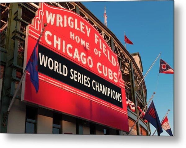 Wrigley Field World Series Marquee Angle Metal Print