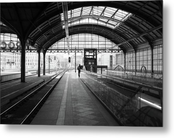 Metal Print featuring the photograph Wroclaw Central Railways Station by Dubi Roman