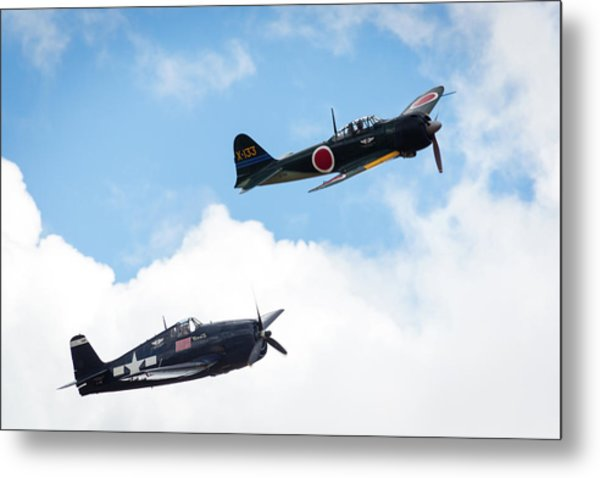 Ww II Dogfight Metal Print by Brian Knott Photography