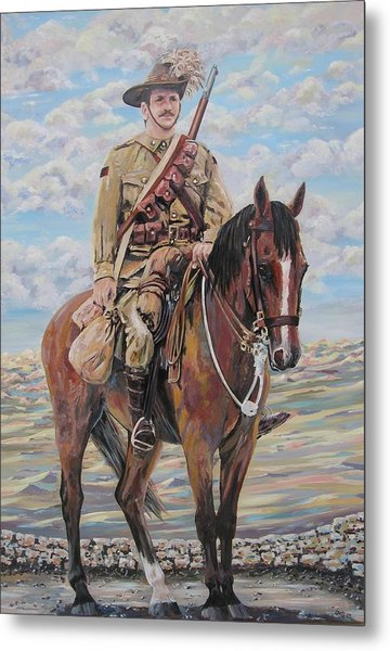 Ww1 Lighthorse At Beersheba Metal Print by Leonie Bell
