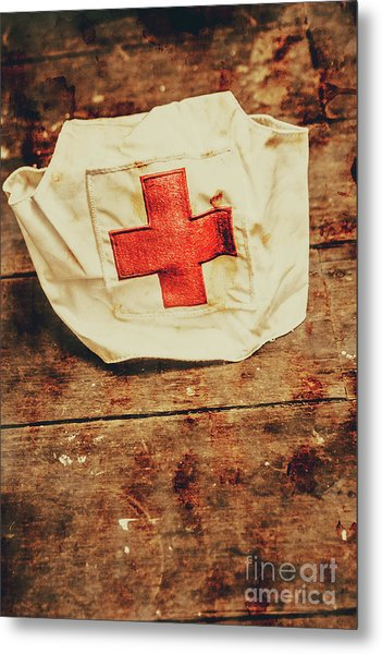 Ww2 Nurse Hat. Army Medical Corps Metal Print