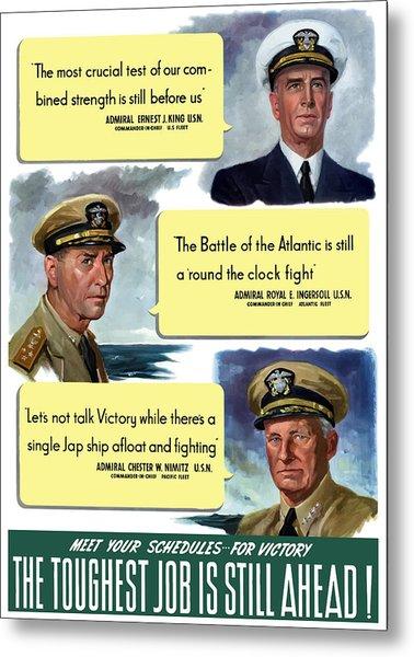 Ww2 Us Navy Admirals Metal Print
