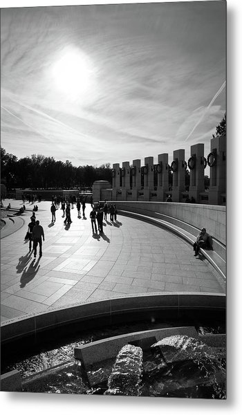 Metal Print featuring the photograph Wwii Memorial by David Sutton