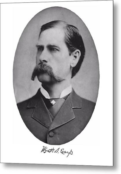 Wyatt Earp Autographed Metal Print