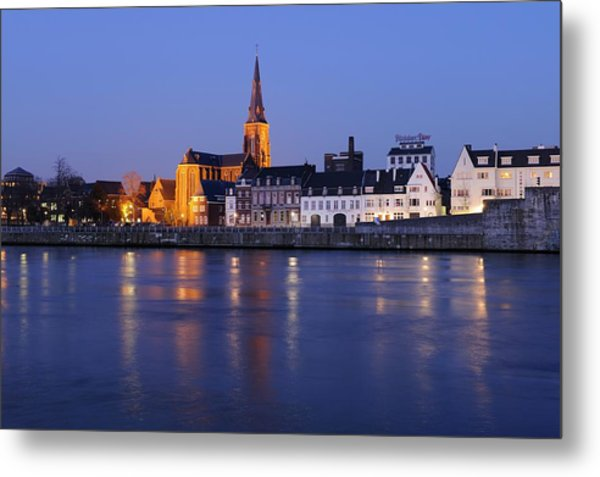 Wyck In Maastricht With The Saint Martin's Church Metal Print