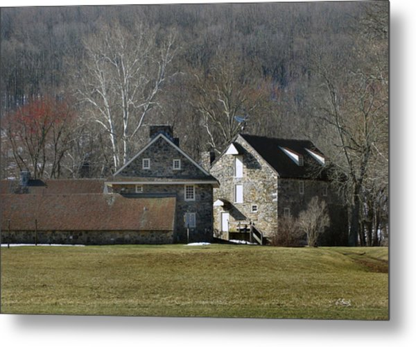 Wyeth Home In Spring Metal Print