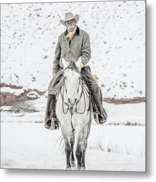 Wyoming Cowboy Metal Print