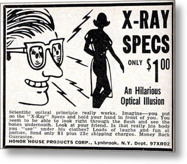 X-ray Specs $1.00 Metal Print