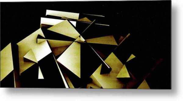 X Robot Metal Print by David BERNARD