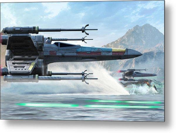 X-wing Full Throttle  Metal Print