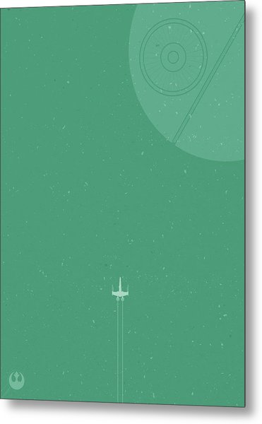 X-wing Meets Death Star Metal Print