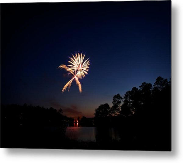 Xo Firework Metal Print