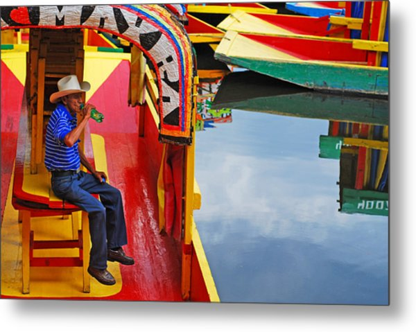 Metal Print featuring the photograph Xochimilco by Skip Hunt