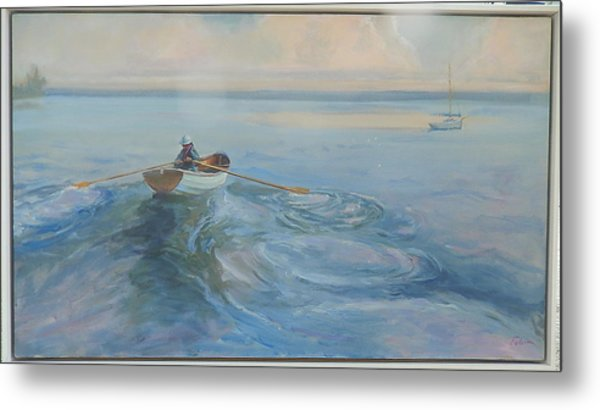 Yacht Ahoy Metal Print by Ron Wilson
