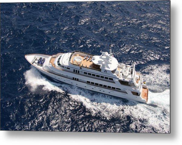 Yacht Not Mine Metal Print by John Rowe