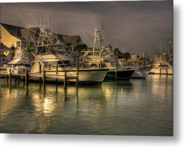 Yachts In Hdr Metal Print
