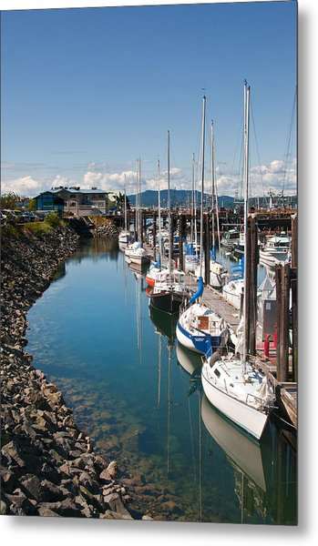 Yachts In The Marina Metal Print by Melody Watson