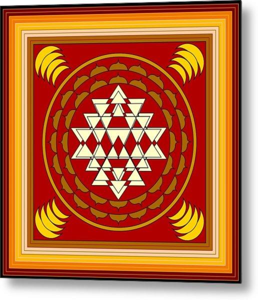 Yantra Meditation Metal Print