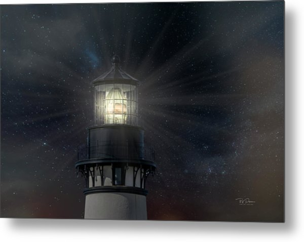 Yaquina Head At Night Metal Print