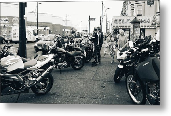 Yarmouth Bikers Metal Print