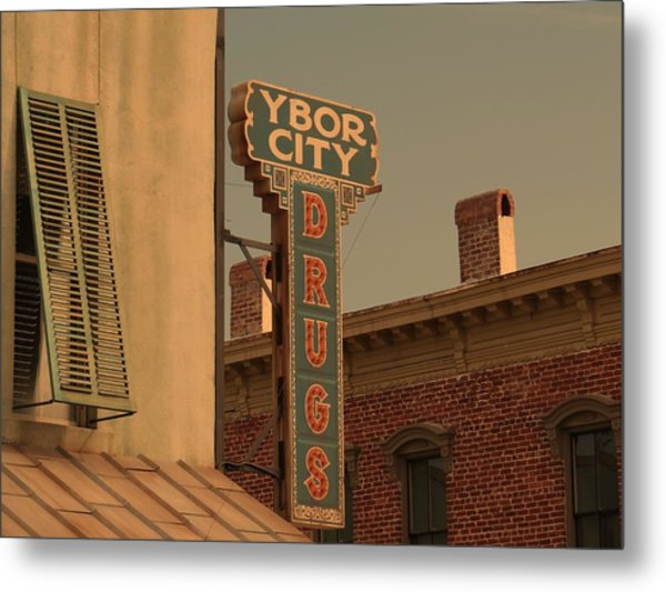 Ybor City Drugs Metal Print