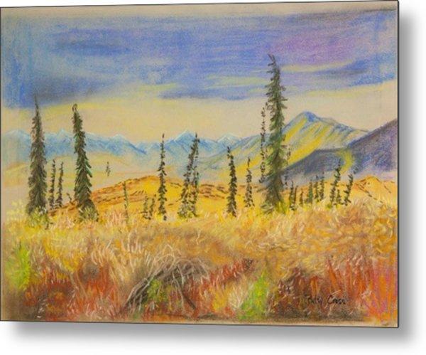 Yellow Alaska Metal Print