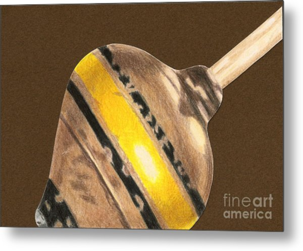 Yellow And Black Top Metal Print