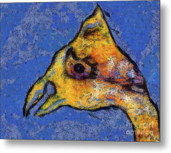 Metal Print featuring the digital art Yellow Bird by Claire Bull