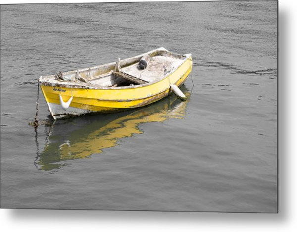 Yellow Boat Metal Print