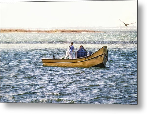 Yellow Boat - Metal Print