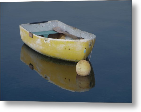 Yellow Rowboat Metal Print