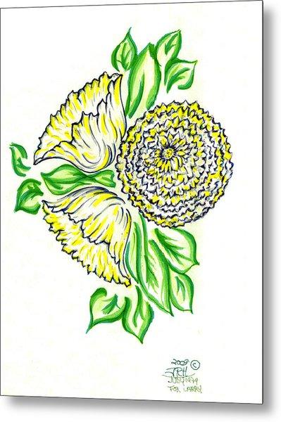 Yellow Bouquet Metal Print by Judith Herbert