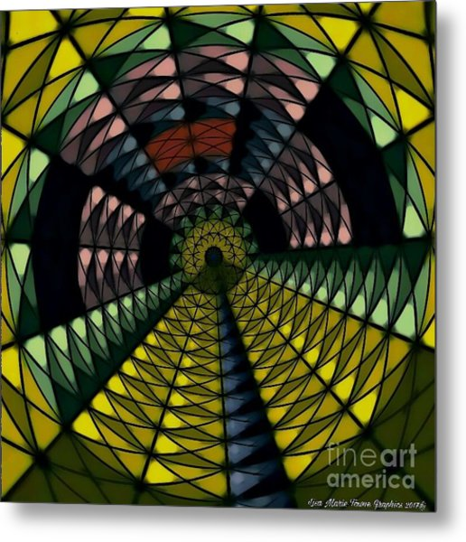 Yellow Brick Road Metal Print