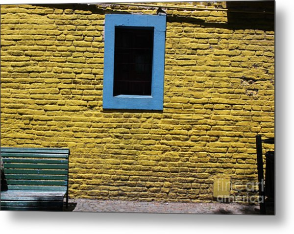 Yellow Brick Window Metal Print