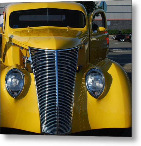 Yellow Coupe Metal Print by William Thomas